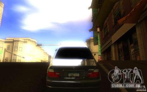 BMW M3 E46 V.I.P para GTA San Andreas vista direita