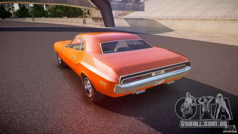 Dodge Challenger v1.0 1970 para GTA 4 traseira esquerda vista