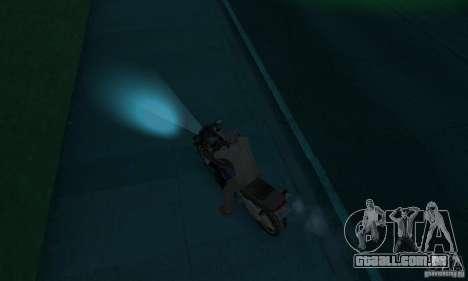Lâmpadas de néon cor para GTA San Andreas terceira tela