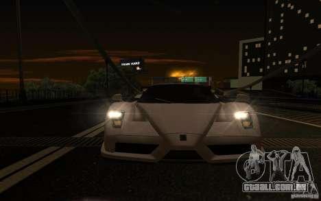 Ferrari Enzo ImVehFt para GTA San Andreas vista interior