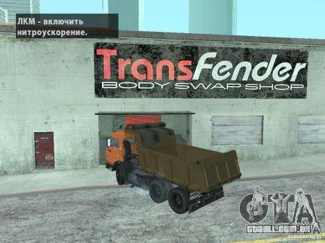 KAMAZ 65115 para GTA San Andreas esquerda vista