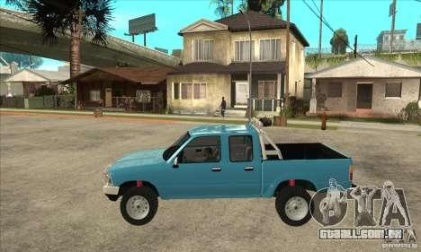 Toyota Hilux CD para GTA San Andreas esquerda vista
