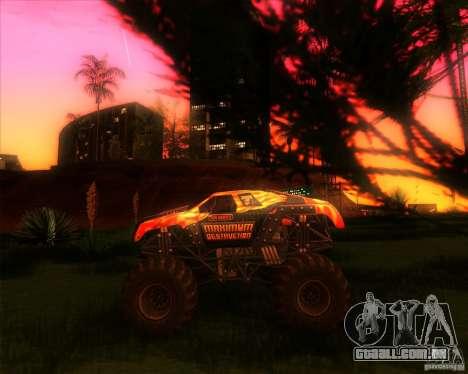 Monster Truck Maximum Destruction para GTA San Andreas esquerda vista