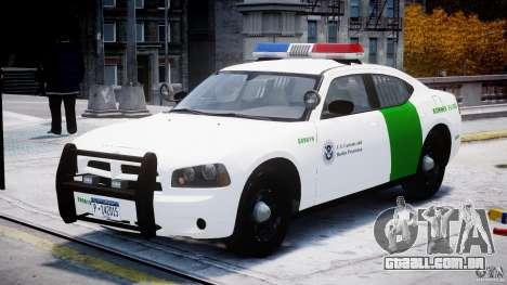 Dodge Charger US Border Patrol CHGR-V2.1M [ELS] para GTA 4 vista de volta