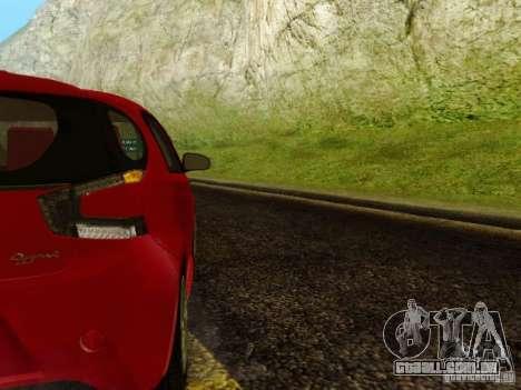 Aston Martin Cygnet para GTA San Andreas vista traseira