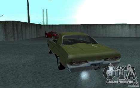 Chevrolet Impala 1971 para GTA San Andreas vista traseira