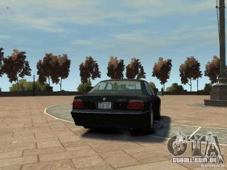 BMW 750i (E38) 1998 para GTA 4 vista direita