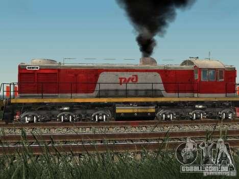 RZD Tem2-6883 para GTA San Andreas traseira esquerda vista