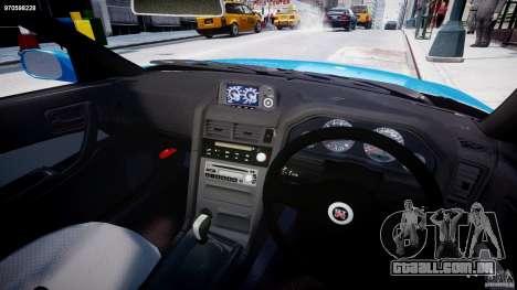 Nissan Skyline R-34 V-spec para GTA 4 vista de volta
