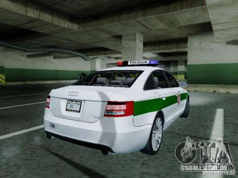 Audi A6 Police para GTA San Andreas vista direita