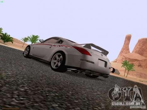 Nissan 350Z Nismo S-Tune para GTA San Andreas esquerda vista