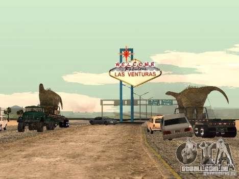Trailer de dinossauro para GTA San Andreas esquerda vista