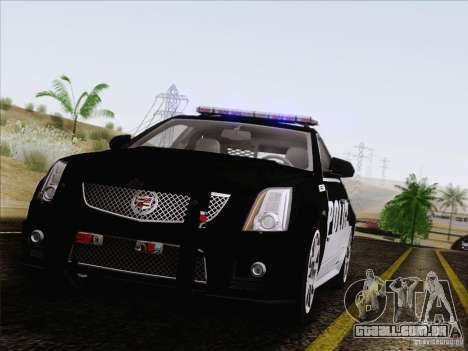 Cadillac CTS-V Police Car para GTA San Andreas vista traseira