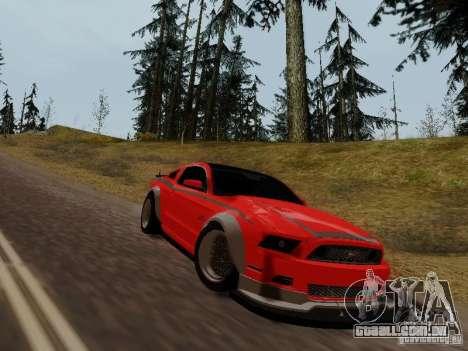 Ford Mustang RTR Spec 3 para GTA San Andreas traseira esquerda vista