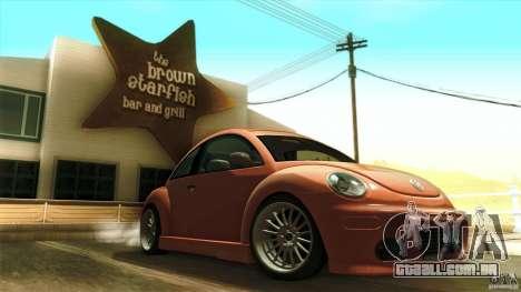 Volkswagen Beetle RSi Tuned para GTA San Andreas vista inferior