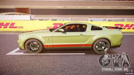 Ford Mustang Shelby GT500 2010 (Final) para GTA 4 esquerda vista