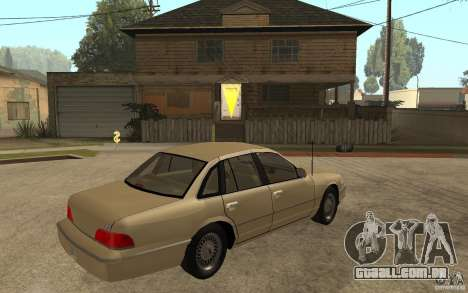 Ford Crown Victoria LX 1992 para GTA San Andreas vista direita