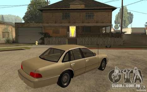 Ford Crown Victoria LX 1992 para GTA San Andreas vista direita