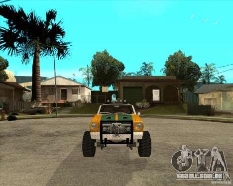 Ford Mustang Sandroadster para GTA San Andreas vista traseira
