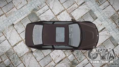 BMW M3 e46 2005 para GTA 4 vista superior