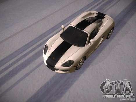 Porsche Carrera GT para GTA San Andreas vista interior