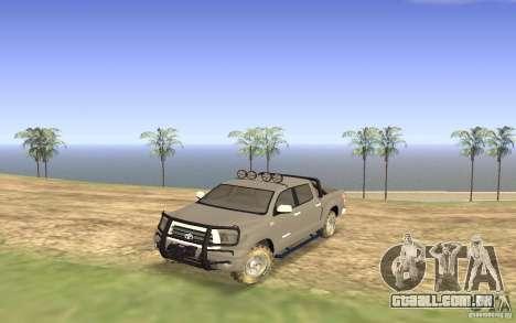 Toyota Tundra 4x4 para GTA San Andreas