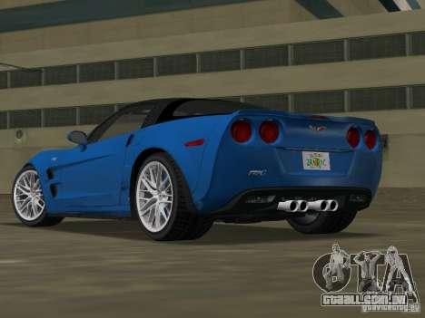 Chevrolet Corvette ZR1 para GTA Vice City deixou vista