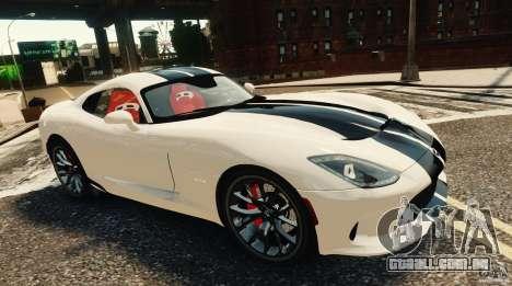 Dodge Viper GTS 2013 para GTA 4 traseira esquerda vista