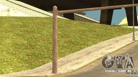 Semáforos enferrujados para GTA San Andreas por diante tela