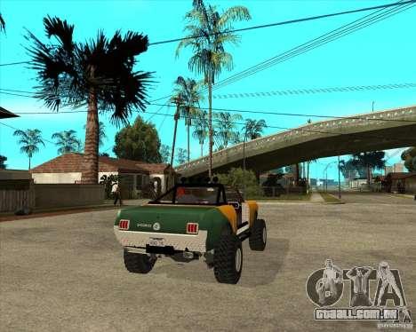 Ford Mustang Sandroadster para GTA San Andreas traseira esquerda vista
