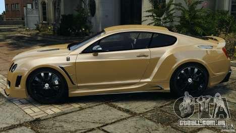 Bentley Continental GT Premier v1.0 para GTA 4 esquerda vista