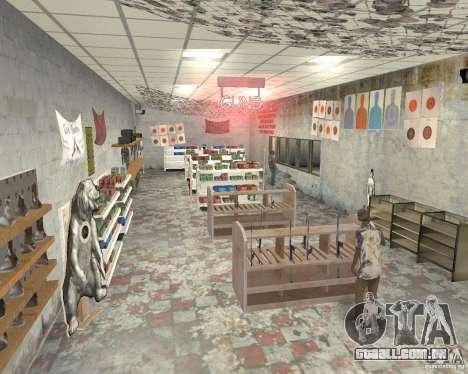 Uma movimentada loja Ammu-Nation v3 (Final) para GTA San Andreas