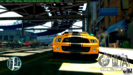 Shelby GT500 Super Snake 2011 para GTA 4 traseira esquerda vista
