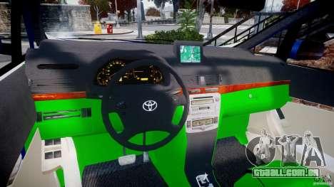 Toyota Alphard 2007 para GTA 4 vista de volta