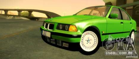BMW E36 320i para GTA San Andreas vista inferior