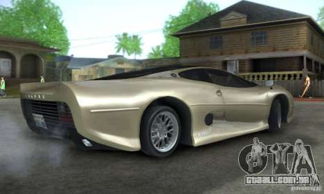 Jaguar XJ 220 Black Rivel para GTA San Andreas vista direita