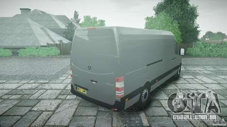 Mercedes Benz Sprinter Long Version para GTA 4 vista lateral