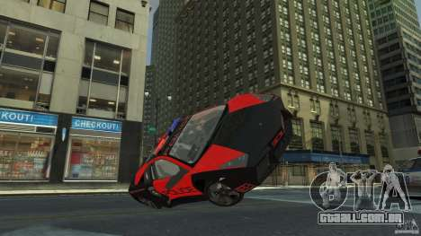 Lamborghini Reventon Police Hot Pursuit para GTA 4 vista lateral
