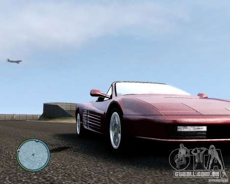 Ferrari Testarossa para GTA 4 vista de volta