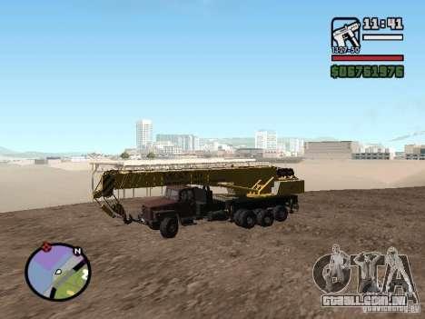 KrAZ-250 MKAT-40 para GTA San Andreas esquerda vista