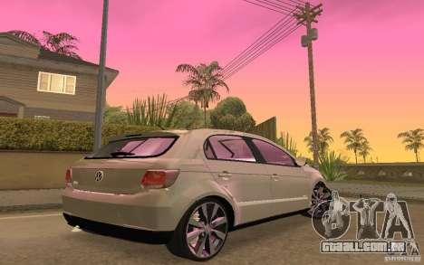 Volkswagen Gol G6 para GTA San Andreas vista traseira