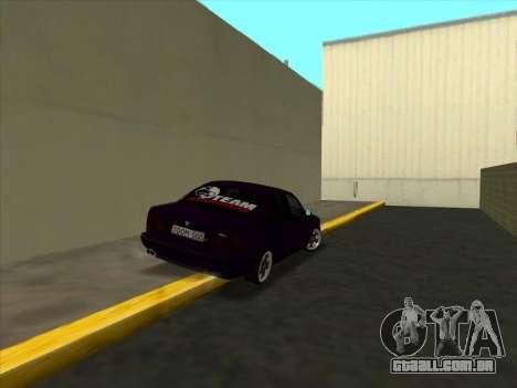 BMW M5 E34 NeedForDrive para GTA San Andreas vista direita