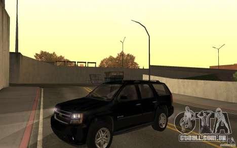 Chevrolet Tahoe para GTA San Andreas vista direita