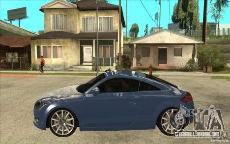Audi TT 3.2 Coupe para GTA San Andreas esquerda vista