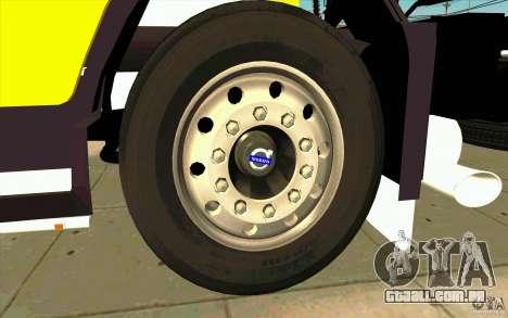 Volvo FH16 Globetrotter DHL para GTA San Andreas vista interior