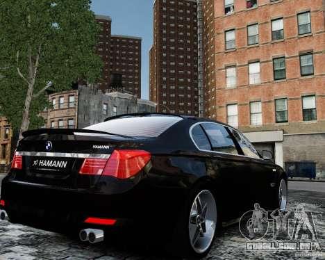 BMW 750Li (F02) Hamann 2010 v2.0 para GTA 4 vista de volta