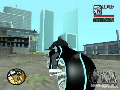 Tron legacy bike v.2.0 para GTA San Andreas traseira esquerda vista