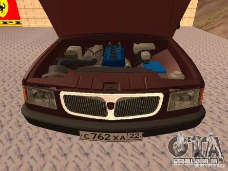 GAZ 3110 VOLGA v 1.0 para GTA San Andreas vista traseira
