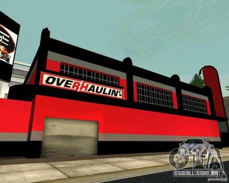 Workshop OVERHAULIN para GTA San Andreas quinto tela