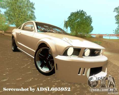 Ford Mustang GT 2005 Tunable para GTA San Andreas vista inferior